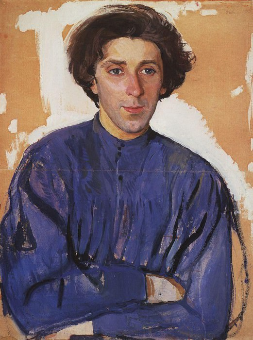 Portrait of the writer G. I. Chulkov. Zinaida Serebryakova