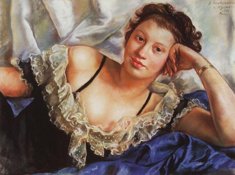 Portrait of B. E. Popova. Zinaida Serebryakova