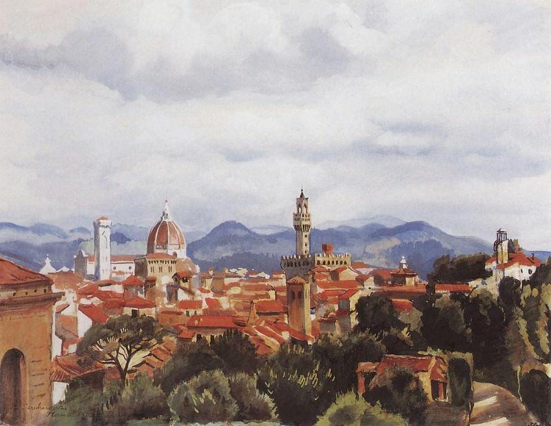 Florence. Zinaida Serebryakova