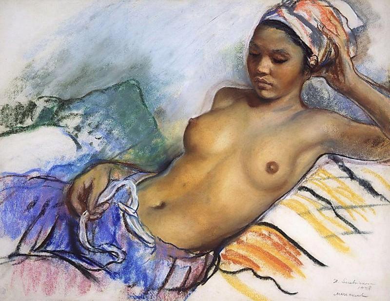 The resting Negro Marrakech. Zinaida Serebryakova