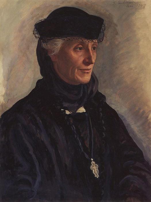 Portrait of S. M. Lukomskaya, nee Dragomirova. Zinaida Serebryakova