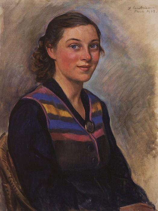 Portrait of Irina Zakolodkina. Zinaida Serebryakova