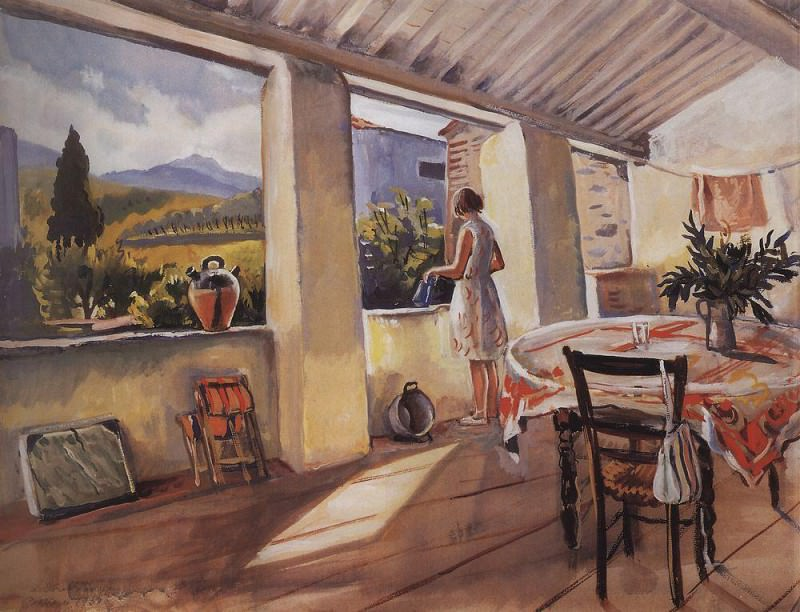 Terrace in Collioure. Zinaida Serebryakova