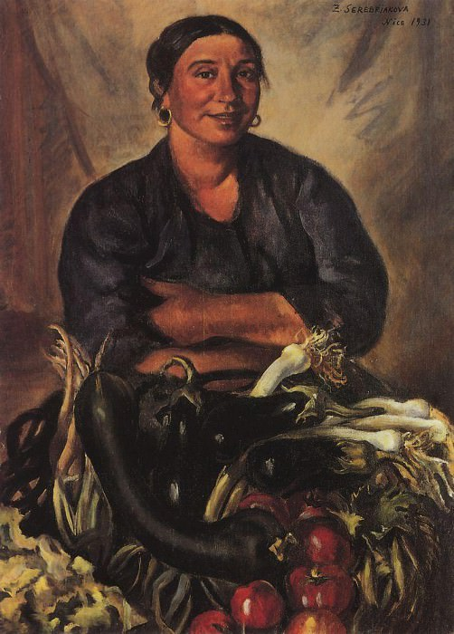 The seller vegetables. Nice. Zinaida Serebryakova