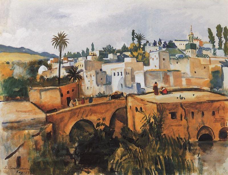 Фес Марокко. Зинаида Евгеньевна Серебрякова