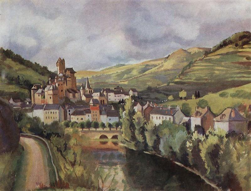 Auvergne. The town of Esteng. Zinaida Serebryakova