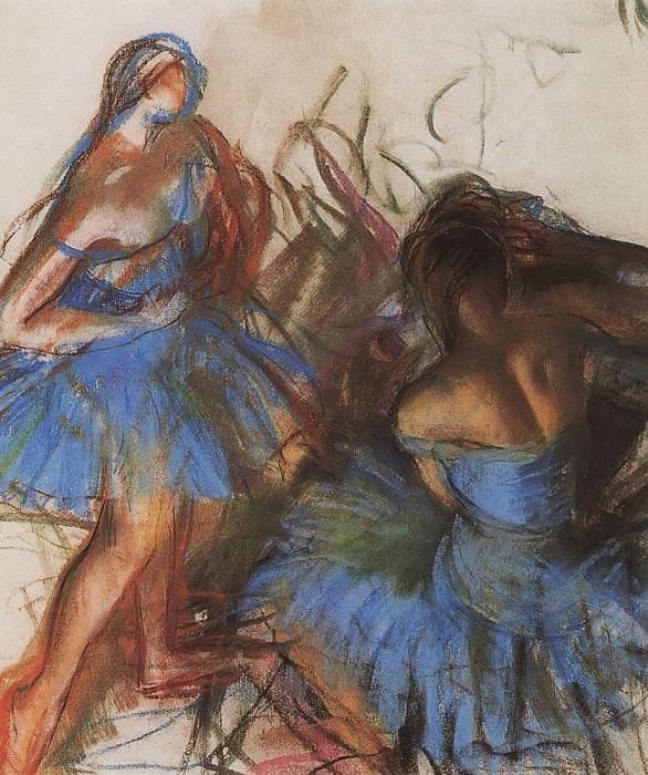 Blue ballerinas. Zinaida Serebryakova