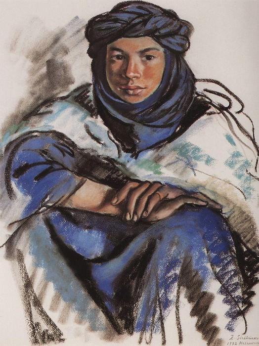 Moroccan in blue. Zinaida Serebryakova