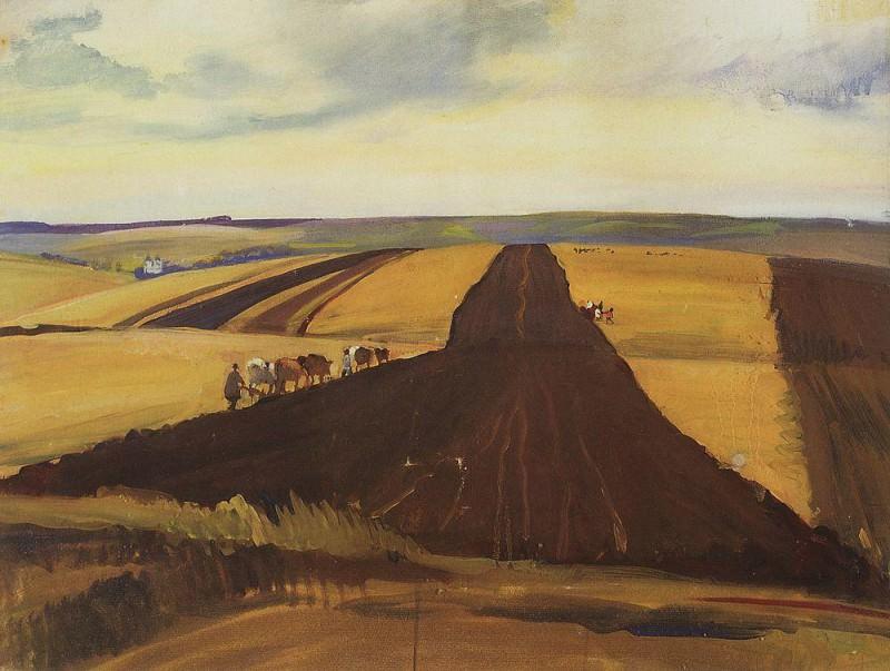 Neskuchnoye Plowing. Zinaida Serebryakova