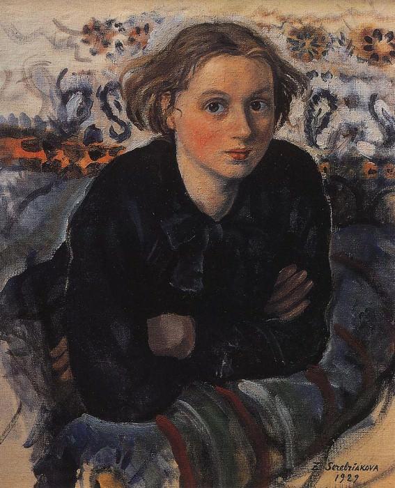 Portrait of daughter Katya. Zinaida Serebryakova
