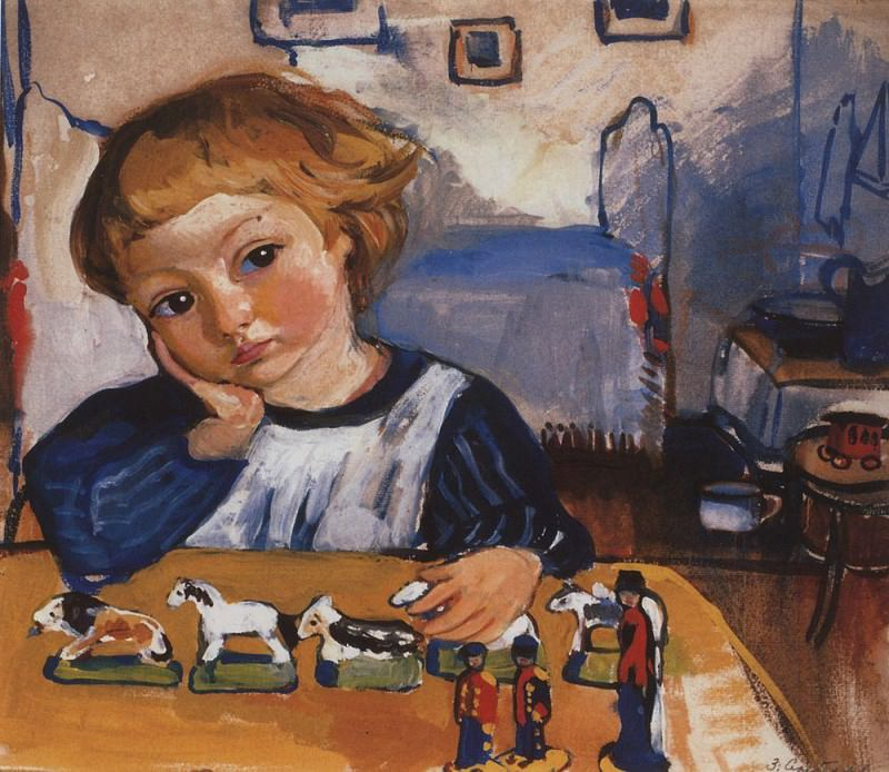 Portrait of Eugeny Serebriakov. Zinaida Serebryakova
