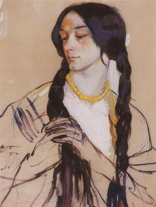 Портрет О. К. Лансере. Зинаида Евгеньевна Серебрякова