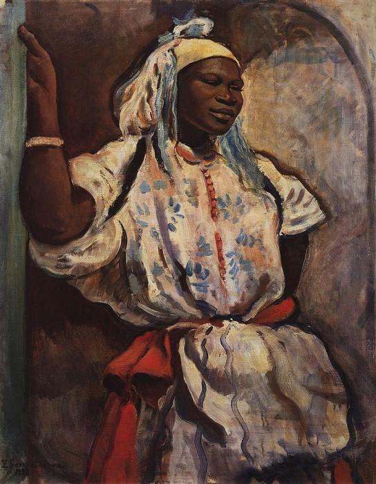 Moroccan girl in white. Zinaida Serebryakova