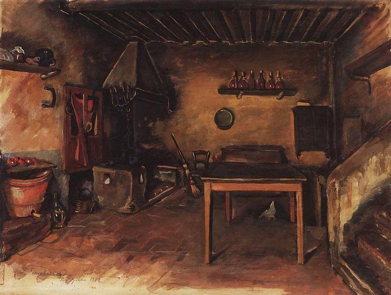 Деревнская кухня В окрестностях Буджиано. Зинаида Евгеньевна Серебрякова