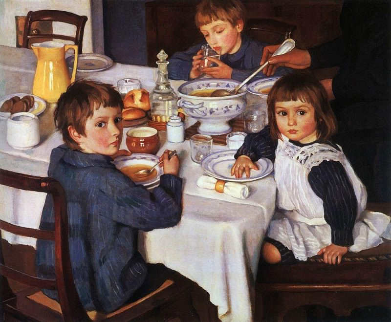 At breakfast. Zinaida Serebryakova