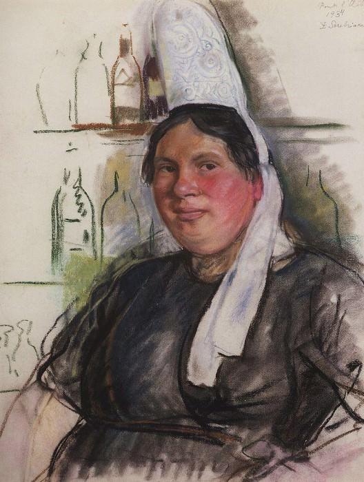 The mistress bistro Pont l Abbe. Zinaida Serebryakova