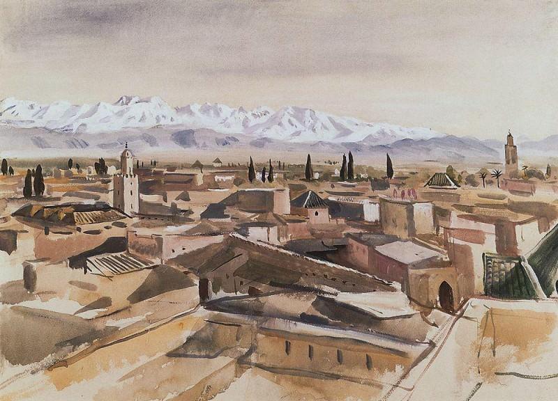 Марракеш Вид с террасы на горы Атласа. Зинаида Евгеньевна Серебрякова