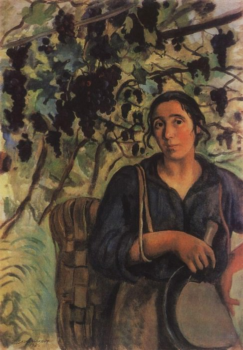 Italian peasant in the vineyard. Zinaida Serebryakova