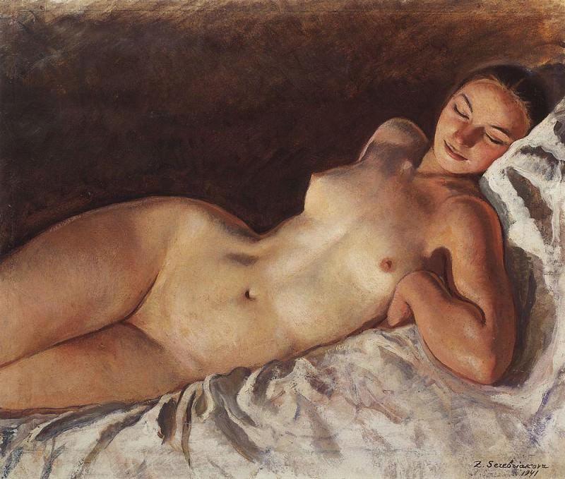 Спящая натурщица. Зинаида Евгеньевна Серебрякова