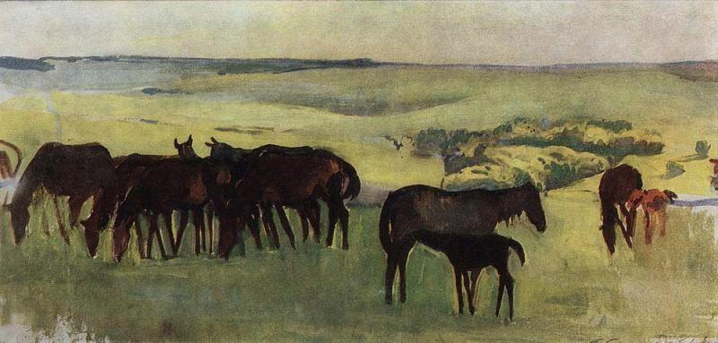 A herd of horses. Zinaida Serebryakova