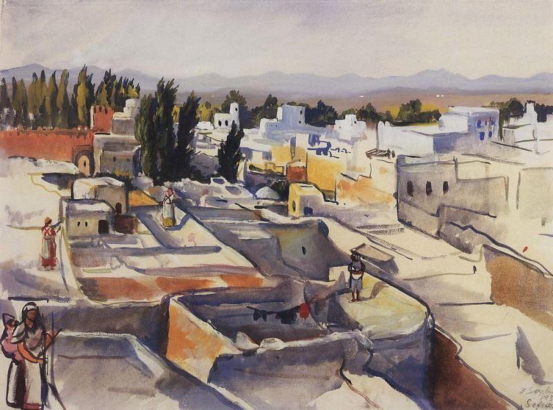 Morocco Sefrou, the roofs of the city. Zinaida Serebryakova