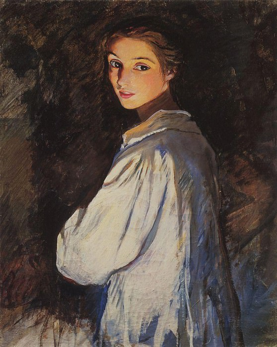 The girl with a candle. Self-portrait. Zinaida Serebryakova