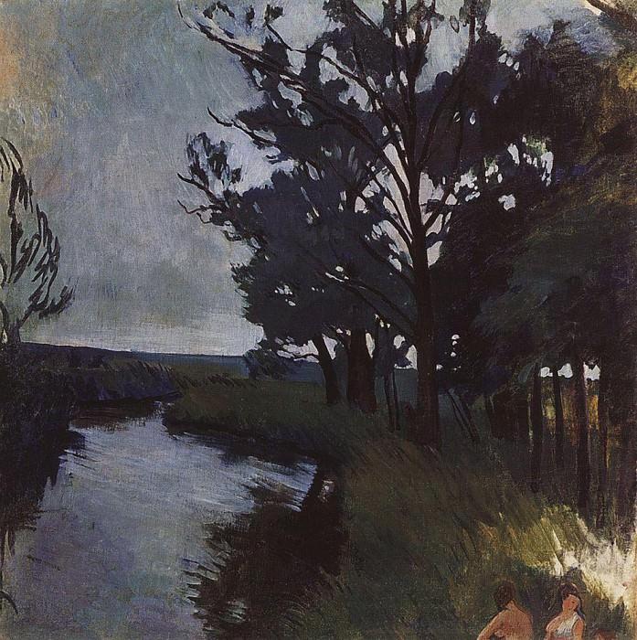 Пейзаж с рекой. Зинаида Евгеньевна Серебрякова