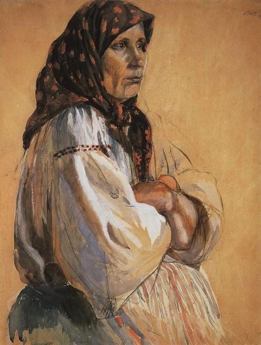 Portrait of nanny. Zinaida Serebryakova