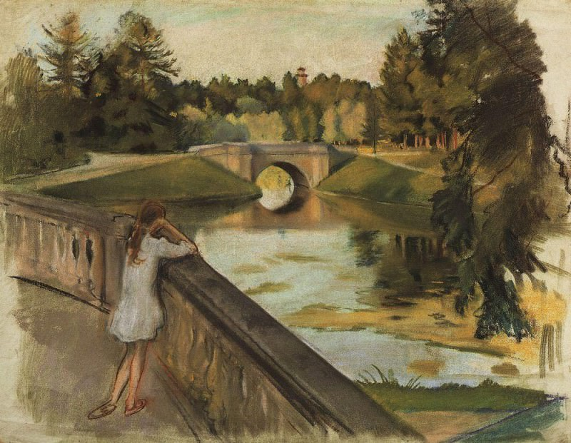 The bridge in Gatchina. Karpin pond. Zinaida Serebryakova