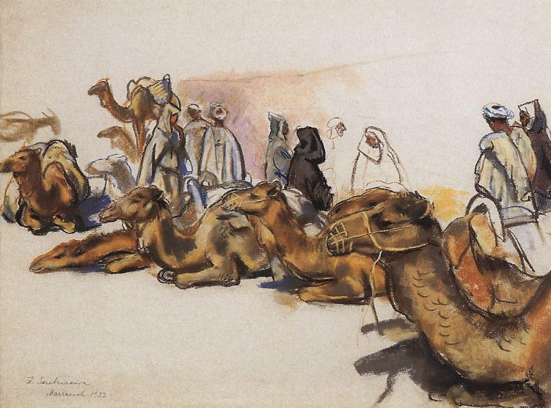 Camels. Zinaida Serebryakova