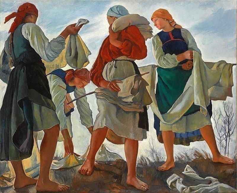 Bleaching of canvas. Zinaida Serebryakova