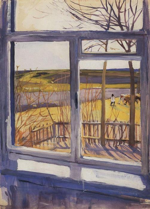 The view from the window, Neskuchnoye. Zinaida Serebryakova