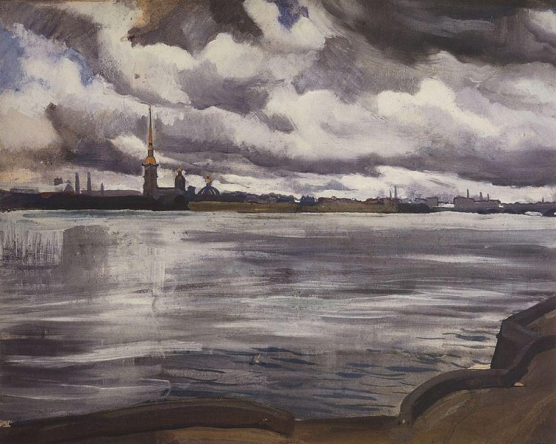 View of the Peter and Paul Fortress. Zinaida Serebryakova