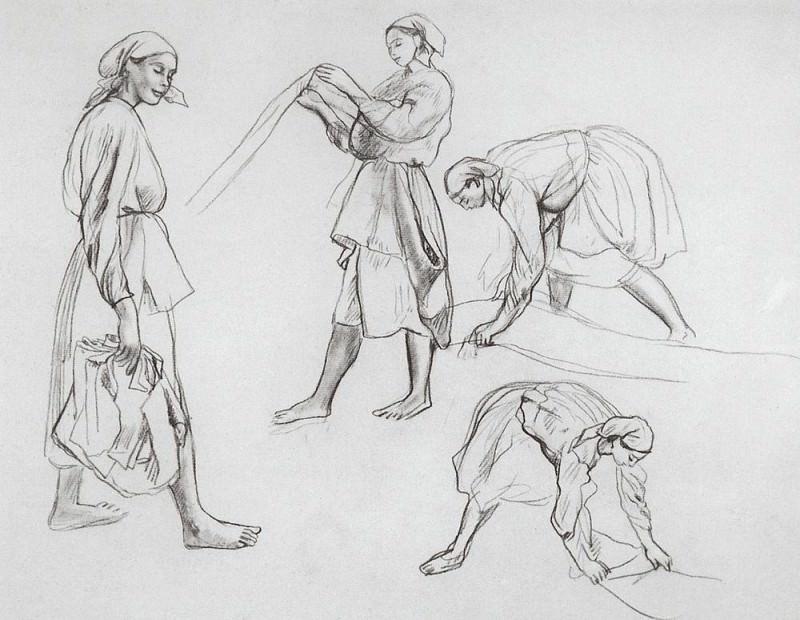 Four female figures. Zinaida Serebryakova