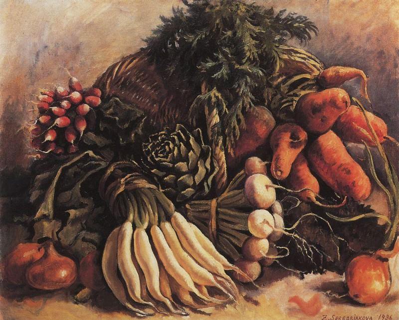 Натюрморт с овощами. Зинаида Евгеньевна Серебрякова