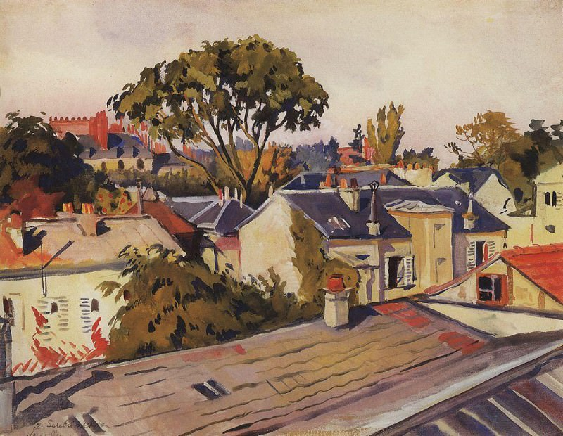Versailles The roofs of the city. Zinaida Serebryakova
