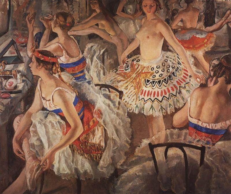 In ballet restroom Large ballerinas. Zinaida Serebryakova