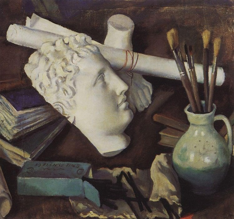 Still Life with Attributes of Art. Zinaida Serebryakova