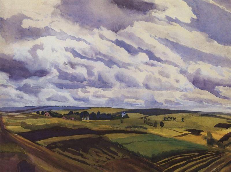 Landscape. The village Neskuchnoye Kursk province. Zinaida Serebryakova