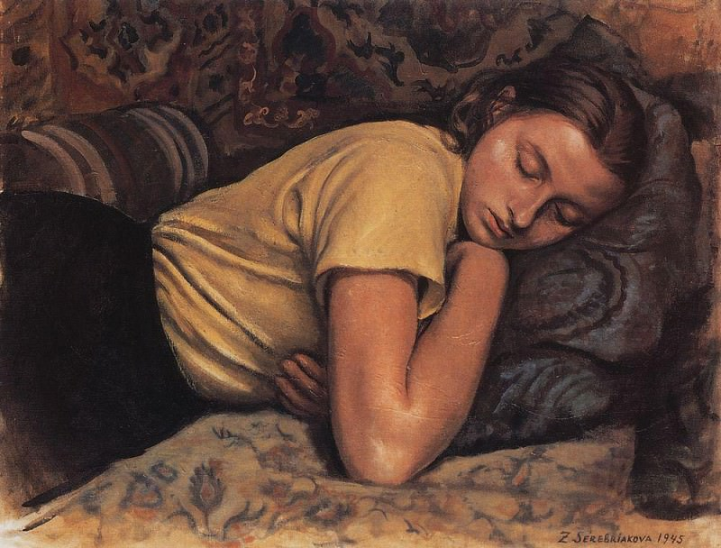 Sleeping Katya. Zinaida Serebryakova