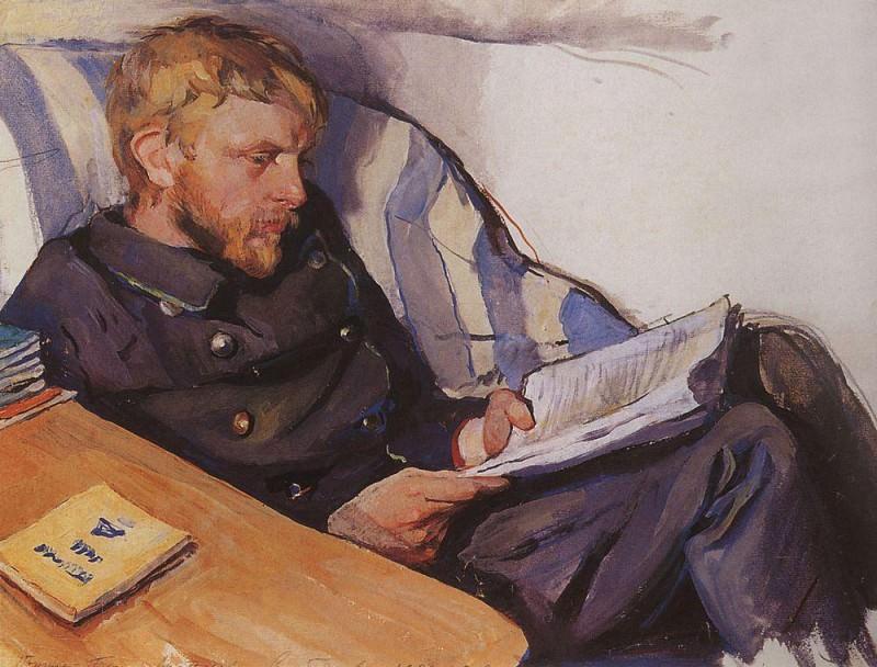 Portrait of B. A. Serebriakov. Zinaida Serebryakova