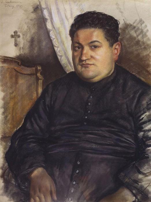 Portrait of Abbe Esten. Zinaida Serebryakova
