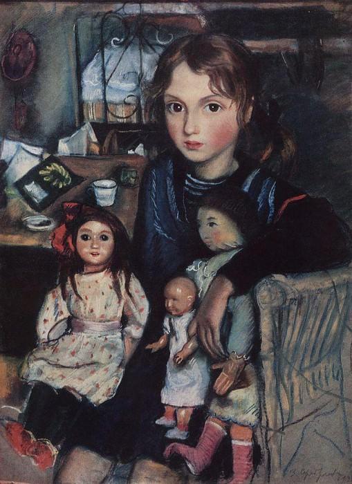 Katya with the dolls. Zinaida Serebryakova