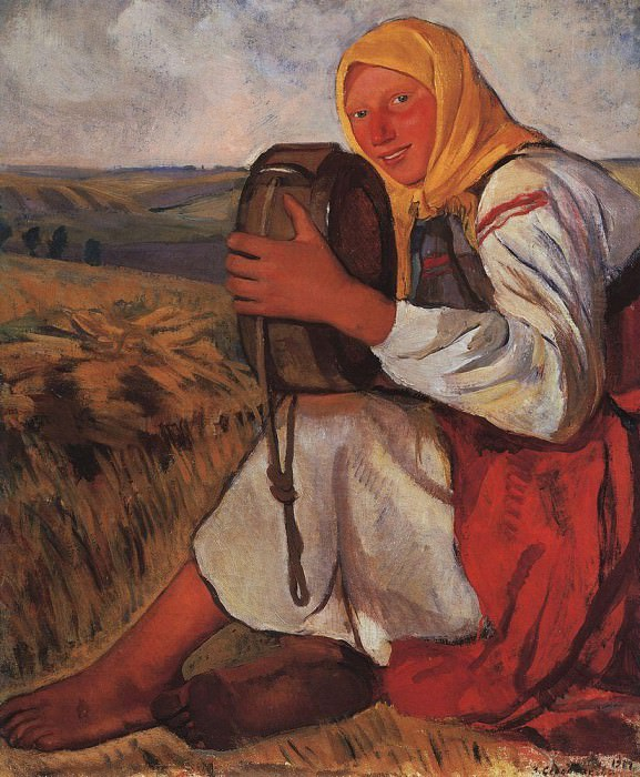 The peasant woman with kvasnik. Zinaida Serebryakova