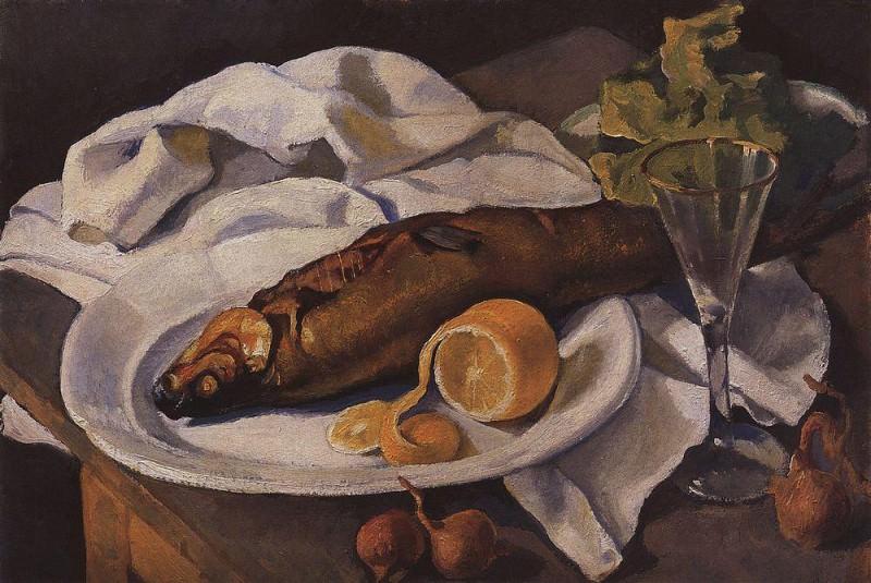 Herring and Lemon. Zinaida Serebryakova