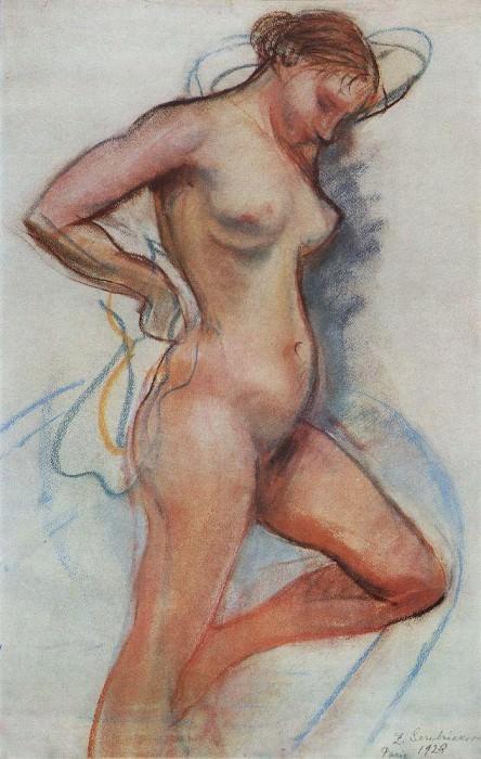 A woman coming out of the bath. Zinaida Serebryakova