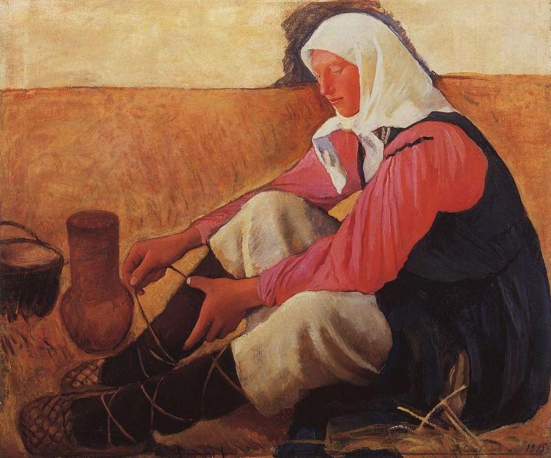 The peasant woman shoes. Zinaida Serebryakova