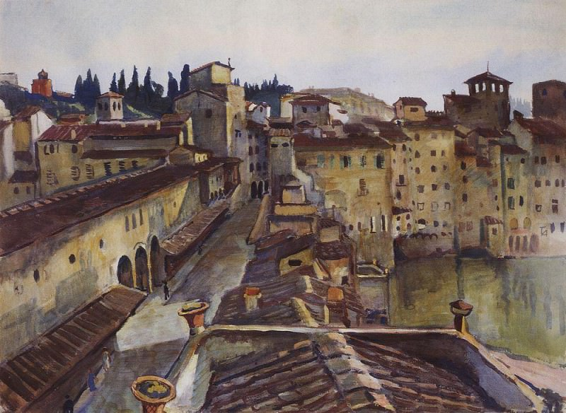 Florence Ponte Vecchio. Zinaida Serebryakova