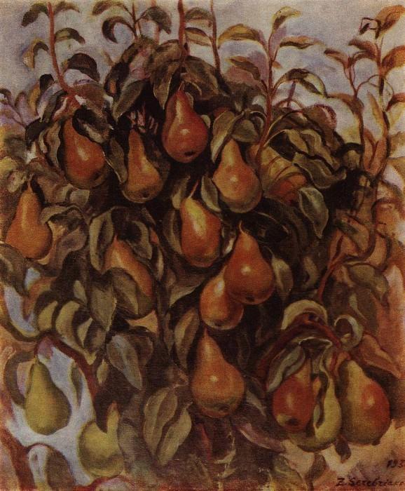 Pears on the branches. Zinaida Serebryakova
