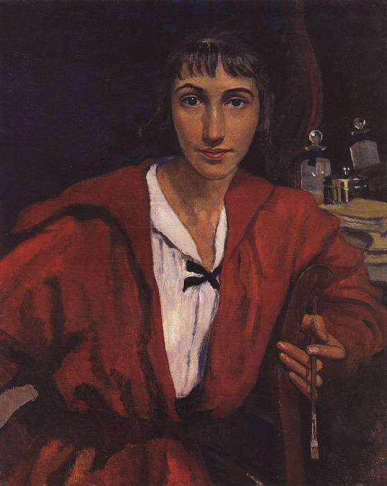 Self-portrait in red. Zinaida Serebryakova